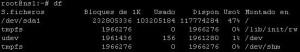 Comando Linux df