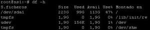 df-h comando linux df -h