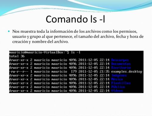 Comando linux ls Listar archivos y directorios en linux