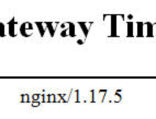 Solución al Error 504 Gateway Time-out en Nginx