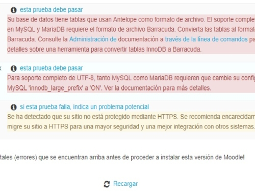 Convertir de database Antelope a Barracuda para Moodle e innodb_large_prefix ON
